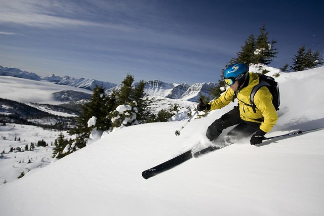 Sunshine Village Skier Photo by Martin Lortz