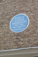 Photo of Charles Spurgeon blue plaque