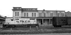 KCS GP7 By Frisco Depot, Ft. Smith, Arkansas, 1973
