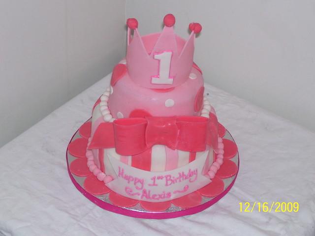 princess crown 1st birthday cake  Flickr - Photo Sharing!