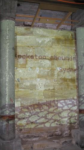 Installation Projection on Sandstone