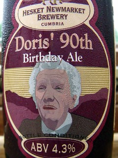 Hesket Newmarket Brewery, Doris' 90th Birthday Ale, England