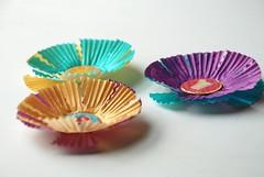 cupcake liner summer-time scrapbooking embellishments
