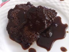 chocolate ice cream(0.0), chocolate truffle(0.0), fudge(0.0), chocolate cake(1.0), ganache(1.0), chocolate pudding(1.0), flourless chocolate cake(1.0), produce(1.0), food(1.0), dish(1.0), chocolate brownie(1.0), chocolate(1.0), snack food(1.0),