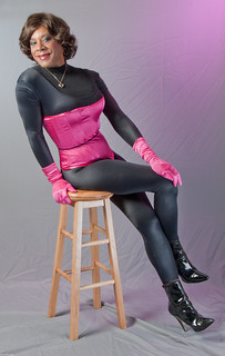 Catsuit, Corset, Gloves & Ankle Boots... What do you think?
