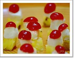 gummi candy(0.0), gelatin dessert(0.0), petit four(1.0), produce(1.0), food(1.0), dessert(1.0), cuisine(1.0), snack food(1.0),