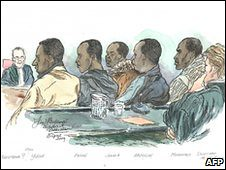 Dutch sentence Somalia men of piracy based on colonial era law. The Europeans and the U.S. have warships in the Gulf of Aden off the coast of Somalia. by Pan-African News Wire File Photos