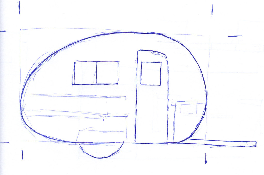 Teardrop Trailer - Napkin Sketch
