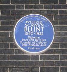 Photo of Wilfrid Scawen Blunt blue plaque