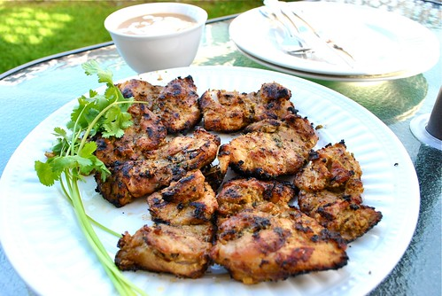recipe grilled curried chicken with peanut sauce by i just love my apron. Black Bedroom Furniture Sets. Home Design Ideas