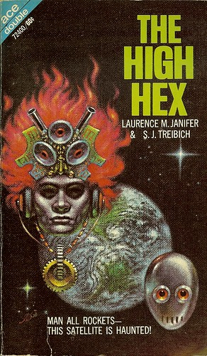 Laurence M. Janifer & S.J. Treibich - The High Helix - Ace Double 72400 - cover artist John Schoenherr