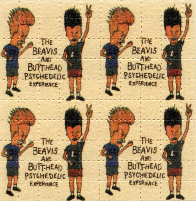 Mark McCloud's Beavis & Butthead Psychedelic Experience all over the USA in 1994 ORIGINAL PRINT of 100 tabs