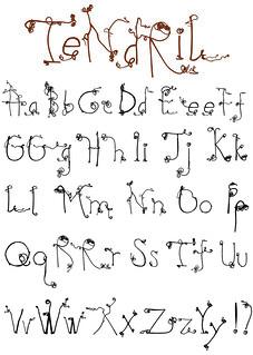 Tendril font
