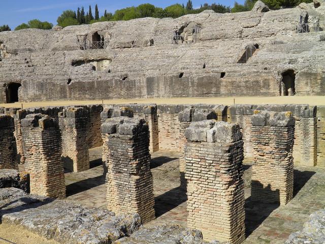 The fossa bestiaria of the Roman Amphitheatre, Italica
