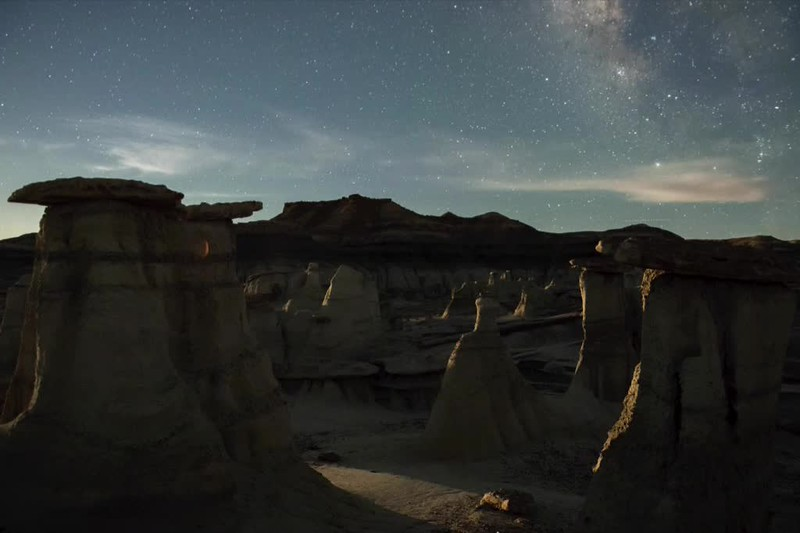 Bisti Shadows at Moonrise