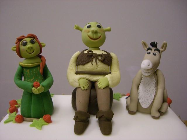 Princess Fiona Shrek And Donkey on Princess Fiona Birthday Cake
