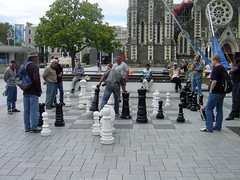 Chess in Cathedral Square, Christchurch, NZ