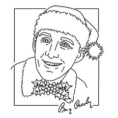 bing crosby white christmas embroidery pattern design by isewcute