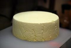 buttercream(0.0), icing(0.0), dessert(0.0), semifreddo(1.0), pecorino romano(1.0), food(1.0), cheesecake(1.0), dairy product(1.0), parmigiano-reggiano(1.0), cheese(1.0),