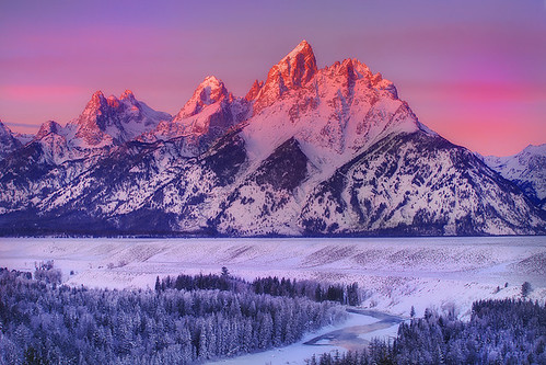 Grand Tetons , Sunrise From Snake River