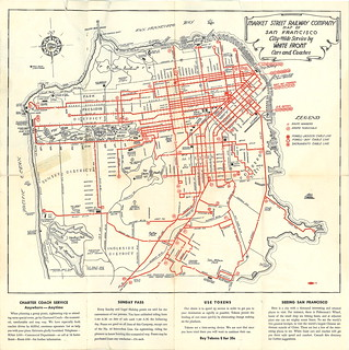 Market Street Railway Company Map of San Francisco: City-Wide Service by White Front Cars and Coaches (1941)