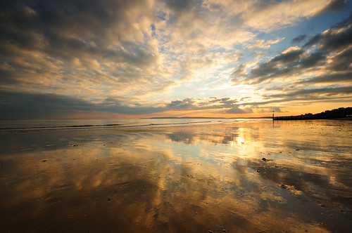 sunset sky sunlight glass clouds reflections mirror nikon soft stu horizon central sigma lee dorset 1020mm grad boscombe meech 06nd d300s