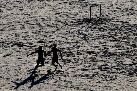 futebol na lua