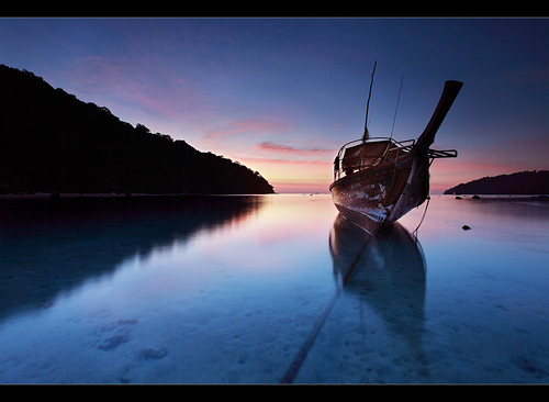 Stranded Long Tail Boat - Surin Islands, Thailand