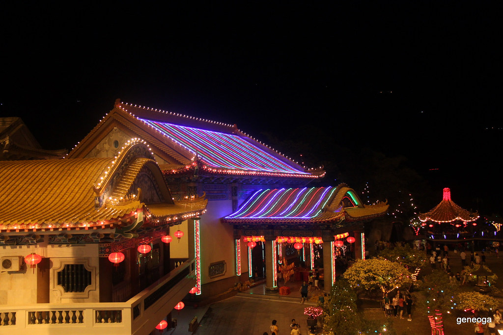 Colorful LED roof