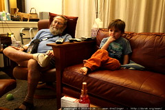 chips watching tv with his youngest grandson