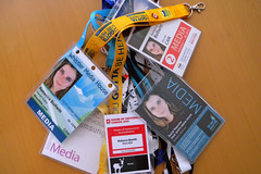 My daily badges/lanyards