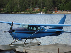 aviation, airplane, propeller driven aircraft, wing, vehicle, cessna 206, cessna 150, seaplane,