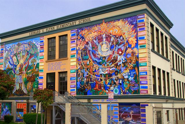 Leonard r flynn elementary school mural art flickr for Elementary school mural