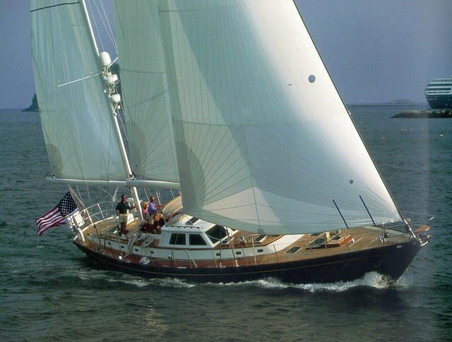 The largest sailing yacht in Hinckley's lineup, the Sou'wester 70 bears a ...
