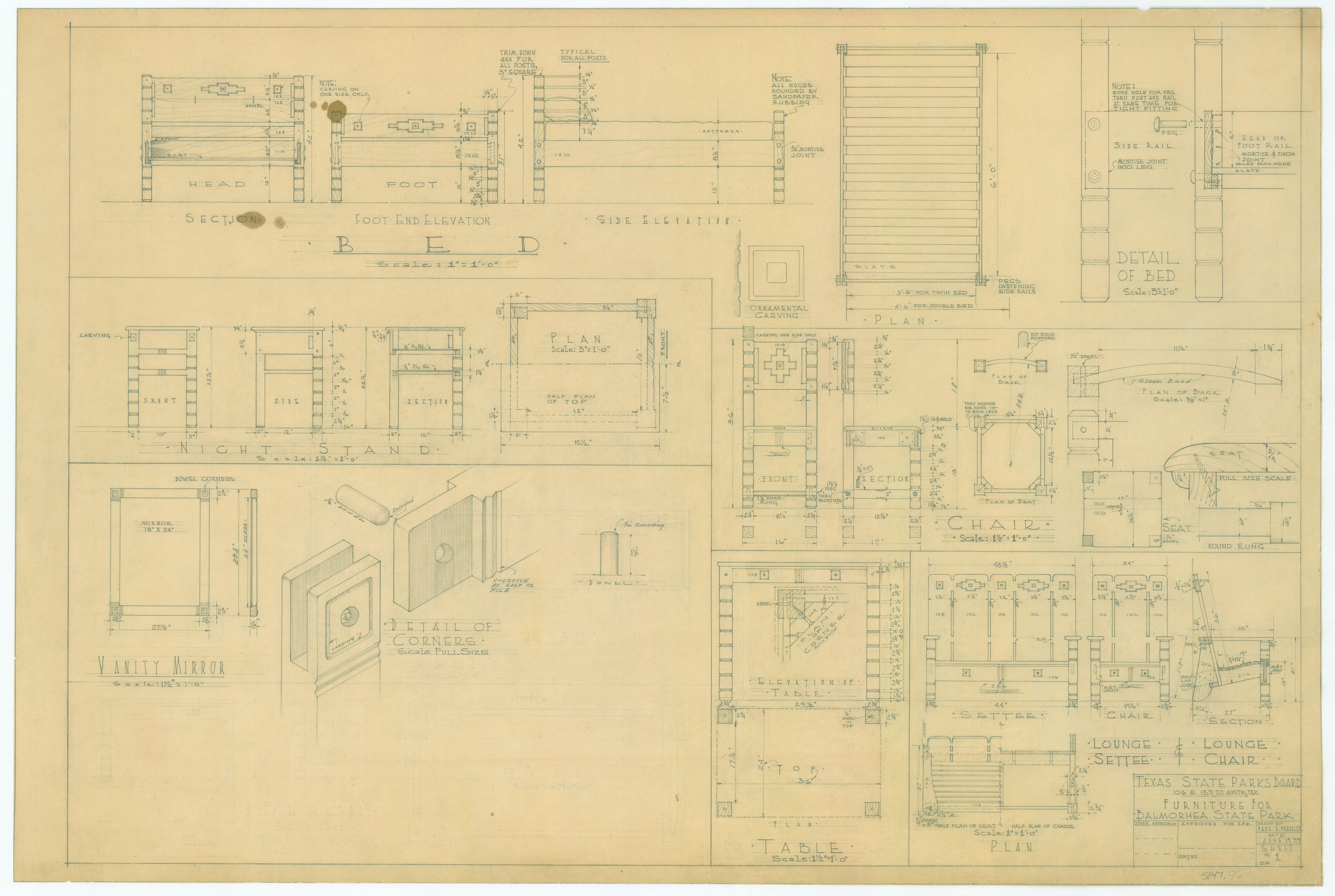 Balmorhea State Park - Furniture - SP47-96