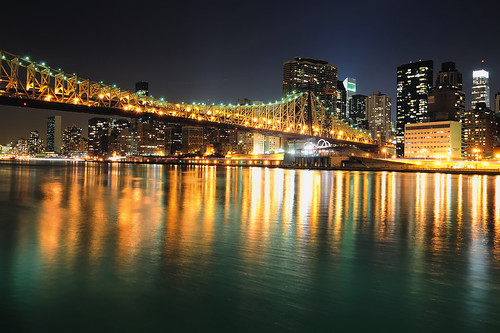 Queensboro (59th Street) Bridge and Midtown Manhattan at Night, NYC