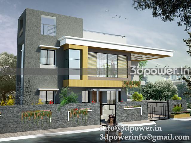 3d image bungalow_3d modeling_3d rendering_www.3dpower.in_bungalow ...