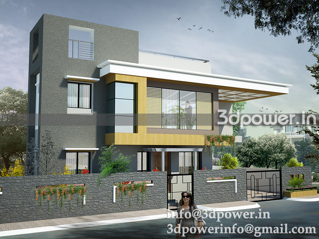 image bungalow_3d modeling_3d rendering_www.3dpower.in_bungalow design