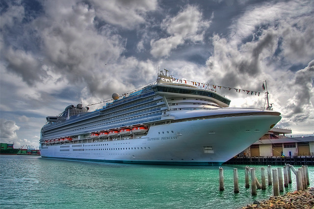 Sapphire Princess Cruise Ship In Los Angeles  The