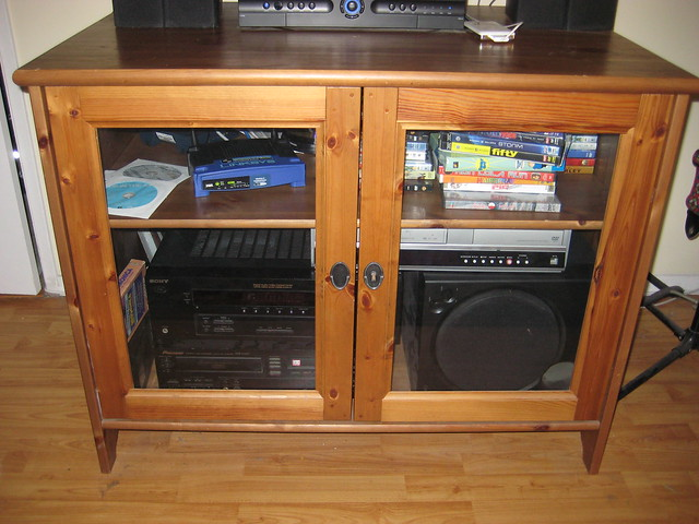 Ikea LekSvik TV/DVD/Stereo stand/cabinet for $60 (retails ...
