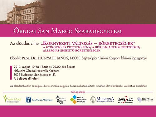 San Marco Szabadegyetem: Prof. Dr. Hunyadi János