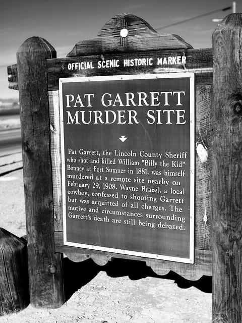 New Mexico Official Scenic Historic Marker Pat Garrett Mu
