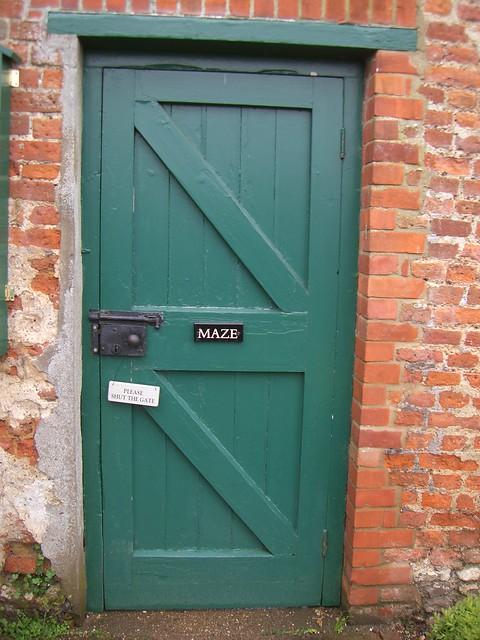 Door to maze
