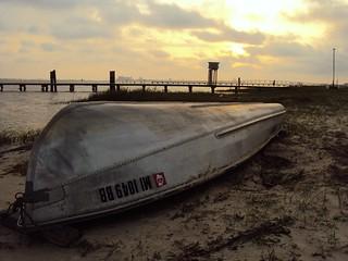 Sunset boat in Ocean Springs