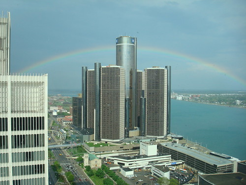 rainbow over Detroit