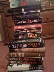 30/365: time for the Anne Rice books to go. except the withching hour  <3