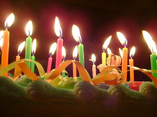 birthday cake candles cake