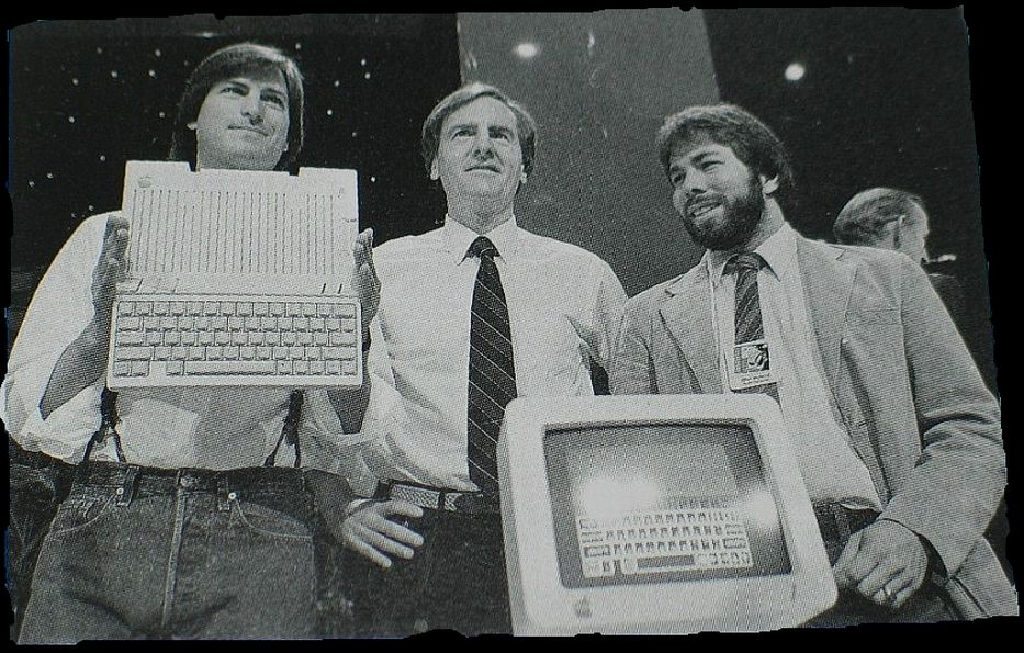 1984 Apple's Jobs, Sculley and Wozniak