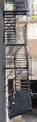 handrail, metal, stairs,