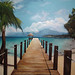 Playa caribe realizado por Berok